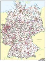 Németország autó térképe